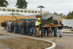 Dugout canoe moved to the Hibulb Cultural Center for Conservation