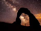 Milky Way over the park, Arches National Park, 2014.
