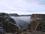 Inversion over Painted Wall, Black Canyon of the Gunnison National Park, 2013.