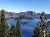 Foggy landscape, Crater Lake National Park, 2015.