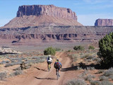 Two Bikers on the White Rim Road at Canyonlands National Park